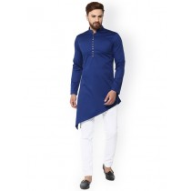 Blue Solid Straight Kurta